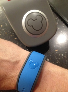 Disney MagicBanks resemble a bracelet. They let patrons purchase items simple by bumping a reader. It makes spending money very quick and easy.
