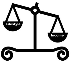 Balance lifestyle and income